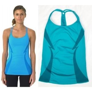 Electric Yoga Bolt Yoga Tank Top Teal S